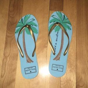 """Kate Spade """"I need a vacation"""" flip flop"""